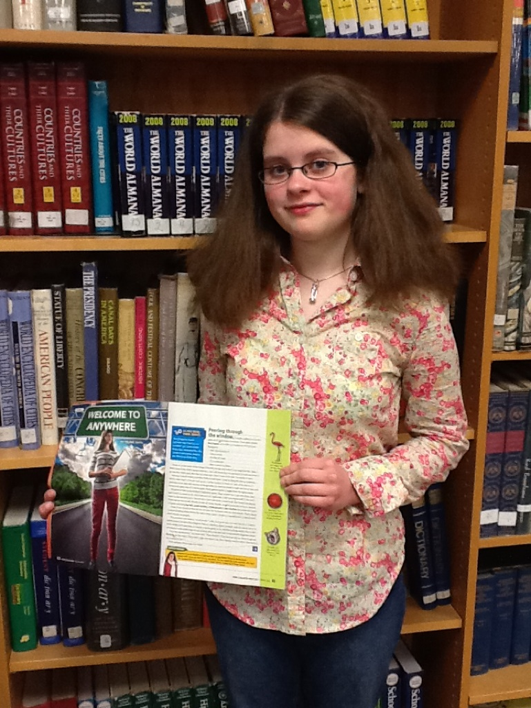 Bloomsburg Middle School Student Wins Writing Contest
